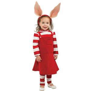 Girl's Deluxe Olivia Toddler Cartoon Pig Child Costume 2T-4T