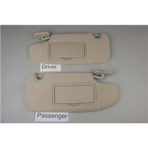 2006-2012 Ford Fusion MKZ Sun Visor Set with Covered Mirrors and Adjust Bars