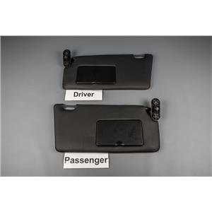 2008-2011 Ford Focus Sun Visor Set with Covered Mirrors