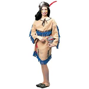 Girls Native American Indian Princess Child Costume Size Large 12-14