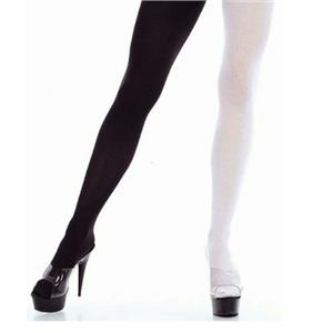 Two-Tone Black and White Seamless Adult Tights