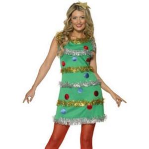 Womens Christmas Tree Dress Costume Adult Size Medium