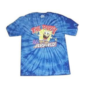 SpongeBob SquarePants Tie Dye Shirt The Party Has Arrived Tee Shirt Large Adult