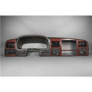 2005-2007 Ford F250 F350 Dash Trim Bezel with Light and 4WD Switches Woodgrain