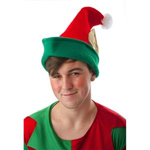 Red Elf Hat with Ears Christmas Accessory