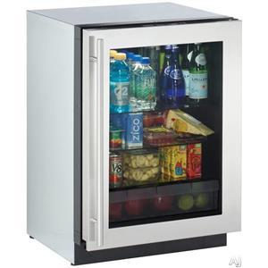 "NIB U-LINE 3000 Series 24"" Compact Refrigerator 3024RGLS00"