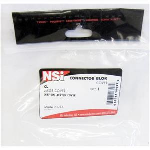 NSI CONNECTOR BLOK COVER, CL, LARGE SNAP-ON, ACRYLIC COVER