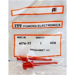 ITT POMONA ELECTRONICS 4176-22 MINI GRABBER MINIGRABBER, TEST CLIP FOR METER