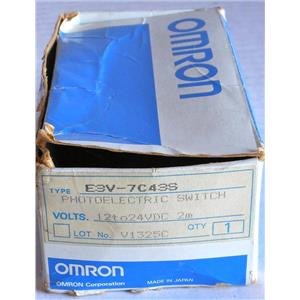 OMRON E3V-7C43S PHOTOELECTRIC SENSOR / SWITCH - NEW w/GUARANTEE