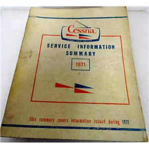 CESSNA SERVICE INFORMATION SUMARY 1973, ISSUED MARCH 1972