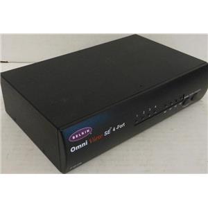 BELKIN F1D104 OMNIVIEW SE 4-PORT USB KVM SWITCH, MISSING POWER ADAPTER