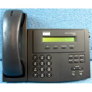 CISCO 7910+SW SERIES IP PHONE TELEPHONE, WITH HANDSET, NO POWER SUPPLY