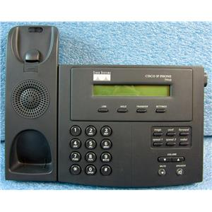 CISCO 7910+SW SERIES IP PHONE TELEPHONE, NO HANDSET, BASE UNIT ONLY