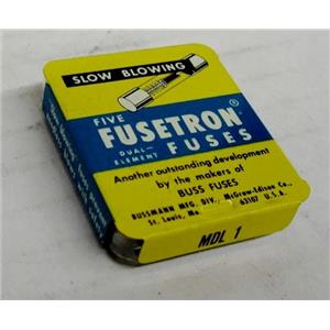 FUSETRON FUSES MDL1 SLOW BLOWING FUSE