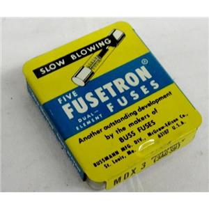 FUSETRON FUSES MDX3 (BOX OF 5) SLOW BLOWING FUSES