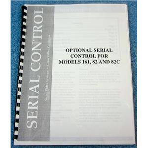 SIERRA VIDEO SYSTEMS MANUAL FOR OPTIONAL SERIAL CONTROL FOR 161, 82 AND 82C