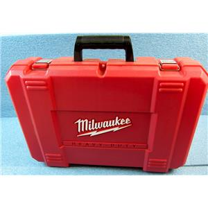 "MILWAUKEE RED PLASTIC CARRYING CASE FOR 0822-24 18V 1/2"" DRIVER DRILL KIT"