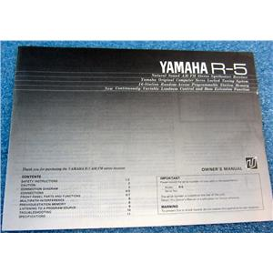 YAMAHA OWNER'S MANUAL FOR R-5 NATURAL SOUND AM/FM STEREO SYNTHESIZER RECEIVER
