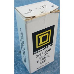 SQUARE D A4.32 MC A4.32MC OVERLOAD RELAY THERMAL UNIT - NEW