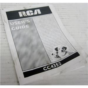 RCA USER'S GUIDE MANUAL FOR CC4352 CAMCORDER VIDEO CAMERA