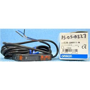 OMRON E3X-DAB11-N PHOTOELECTRIC SWITCH SENSOR, 12-24VDC - NEW