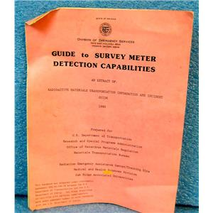 GUIDE TO SURVEY METER DETECTION CAPABILITIES, FOR 750 DOSIMETER