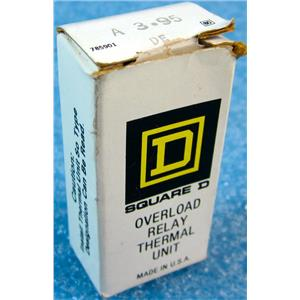 SQUARE D A3.95 DE A3.95DE OVERLOAD RELAY THERMAL UNIT - NEW