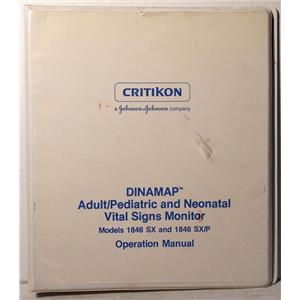 CRITIKON DINAMAP ADULT PEDIATRIC AND NEONATAL VITAL SIGNS MONITOR MANUAL