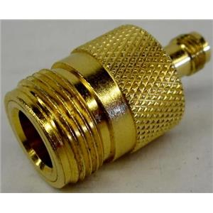 "POMONA ELECTRONICS 4299 GOLD PLATED ADAPTER SMA FEMALE TO TYPE ""N"" FEMALE"