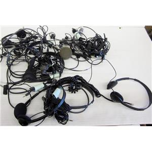 LOT OF SONY AND PLANTRONICS HEADSETS