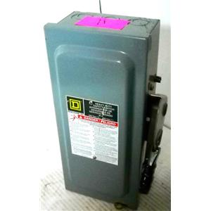 SQUARE D H221N SAFETY SWITCH, DISCONNECT SWITCH, FUSIBLE HD, 240V 30A 2P NEMA1