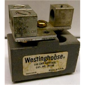 WESTINGHOUSE IN100 POWER BLOCK, 100A 100 AMP, NEUTRAL - USED