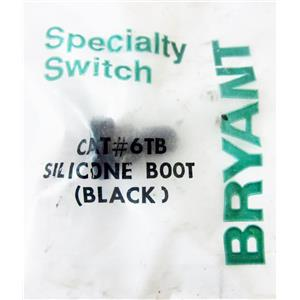BRYANT 6TB SILICON BOOT FOR TOGGLE SWITCH, RUBBER, BLACK - NEW