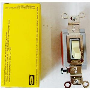 HUBBELL HBL1221 WALL SWITCH, 1 POLE, TOGGLE, 20 AMP - NEW