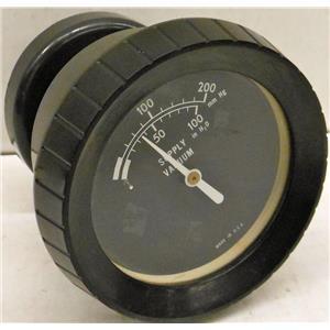 WALLACE AND TIERNAN (NO MODEL #) CHLORINATOR GAUGE, 0-100 IN H20, 0-200mm Hg