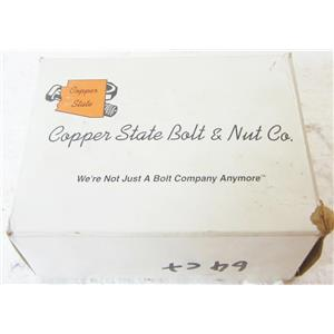 *BOX OF 64* COPPER STATE 01HSCZ-0380075 GR2 HEX BOLTS, ZINC, 3/8-16 X 3/4 - NEW