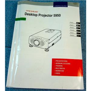PROXIMA USER'S GUIDE / MANUAL FOR 5950 DESKTOP PROJECTOR