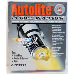 AUTOLITE APP3923 DOUBLE PLATINUM SPARK PLUGS QTY 4  NEW