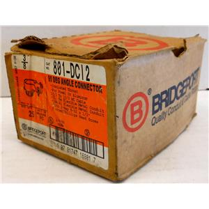 BRIDGEPORT 801-DCI2 3/8 90D2SC FLXCON, 90DEG ANGLE ELBOW CONNECTORS Qty 13 New