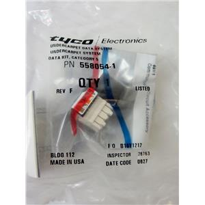 TYCO 558054-1 4PR 110 CAT5E JACK FOR UNDERCARPET CABLING INSTALLATION - NEW