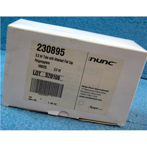 *1000PC/BOX* NUNC 230895 0.2mL TUBE WITH ATTACHED FLAT CAP, POLYPROPYLENE - NEW