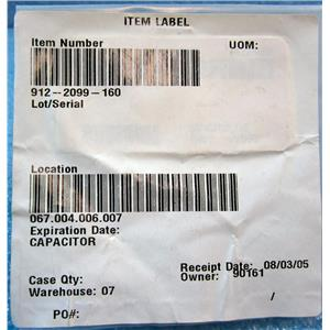 912-2099-160 CAPACITOR, AVIATION AIRCRAFT AIRPLANE REPLACEMENT PART