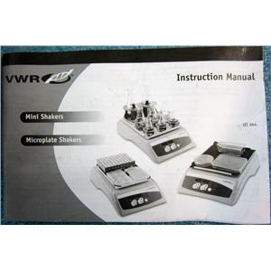 VWR INSTRUCTION MANUAL FOR MINISHAKERS MICROPLATE SHAKERS 715054-00