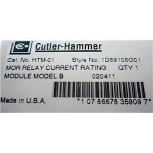 CUTLER HAMMER HTM-01 HEATER MODULE, OVERLOAD RELAY - NEW