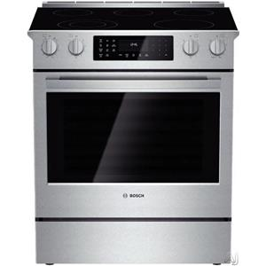 "Bosch 800 30"" 5 Elements 11 Modes Slide-in SS Smoothtop Electric Range HEI8054U"