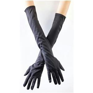 "20.5"" Long Black Opera Elbow Length Gloves"