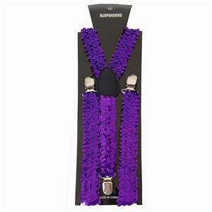 Purple Sequin Suspenders