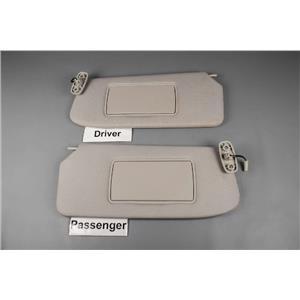 2007-2012 Nissan Sentra Sun Visor Set Pair Covered Lighted Mirrors