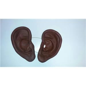 "8"" Super Jumbo Really Big African Brown Black Soft Vinyl Ears Costume Accessory"
