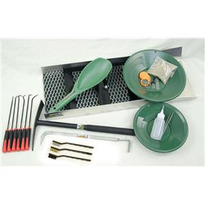 Monster Mining Package - Sluice Box, PayDirt, Green Gold Pans, Crevice Tools